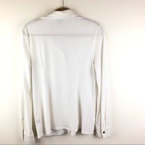 Saks Fifth Avenue Black Label Tops - Saks White Long Sleeves with Snap Closure